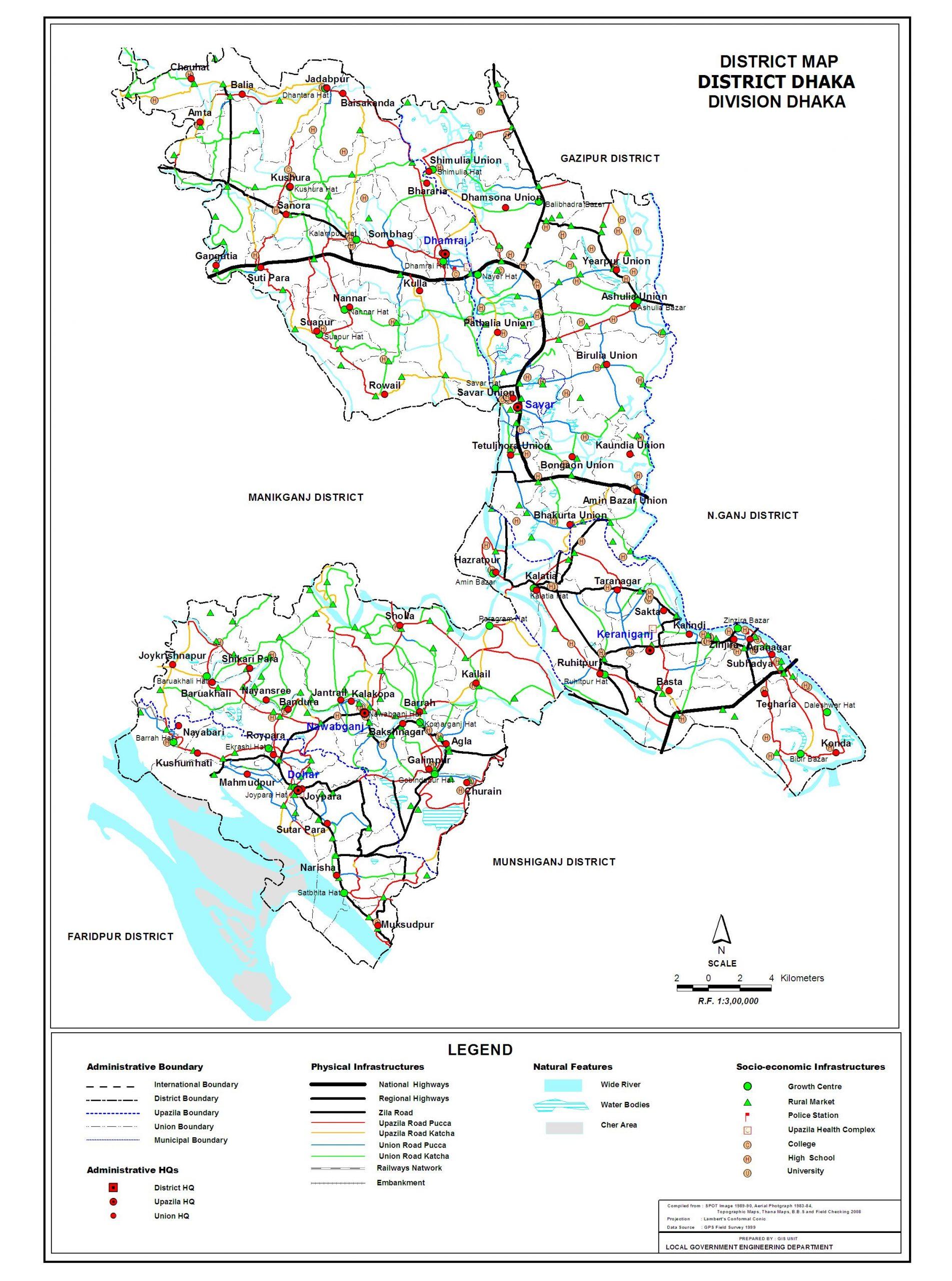 Dhaka City Map scaled
