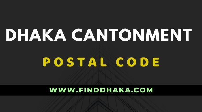 Dhaka Cantonment Post Code