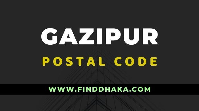 Gazipur District All Postcode