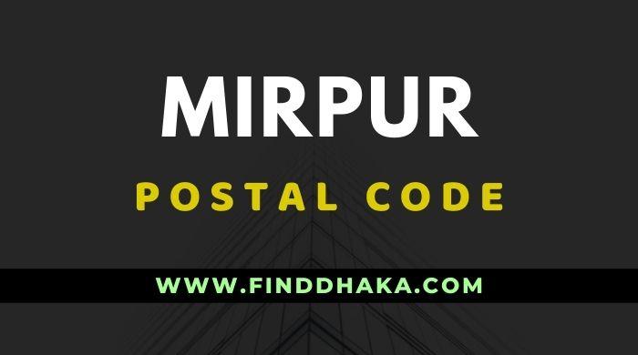Mirpur Post Code