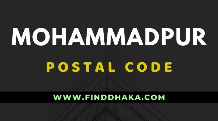 Mohammadpur Housing Post Code
