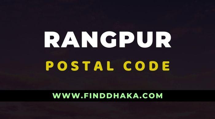 Rangpur District All Post Code